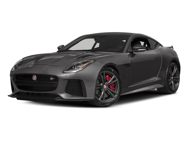 Corris Grey Metallic 2018 Jaguar F-TYPE Pictures F-TYPE Coupe Auto SVR AWD photos front view