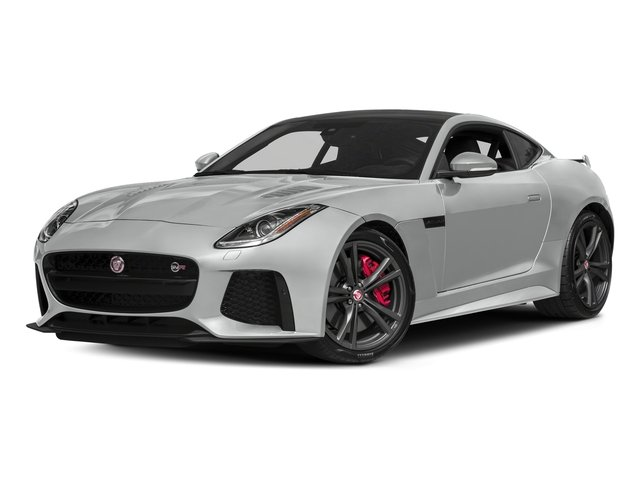 Indus Silver Metallic 2018 Jaguar F-TYPE Pictures F-TYPE Coupe Auto SVR AWD photos front view