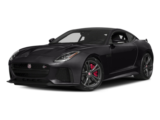Santorini Black Metallic 2018 Jaguar F-TYPE Pictures F-TYPE Coupe Auto SVR AWD photos front view