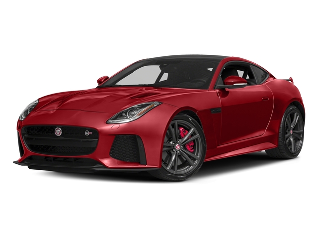 Caldera Red 2018 Jaguar F-TYPE Pictures F-TYPE Coupe Auto SVR AWD photos front view
