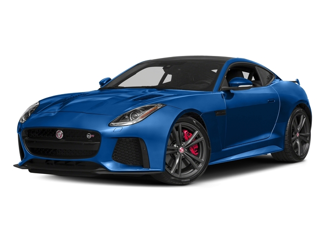 Ultra Blue Metallic 2018 Jaguar F-TYPE Pictures F-TYPE Coupe Auto SVR AWD photos front view
