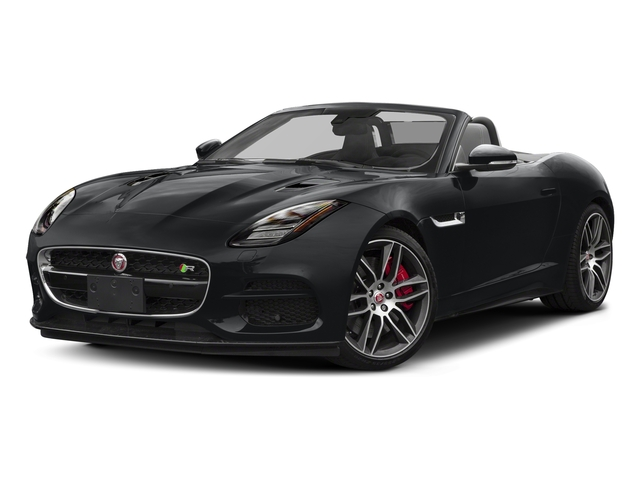 Santorini Black Metallic 2018 Jaguar F-TYPE Pictures F-TYPE Convertible Auto 380HP AWD photos front view