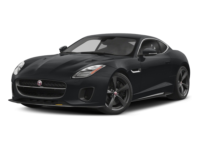 Santorini Black Metallic 2018 Jaguar F-TYPE Pictures F-TYPE Coupe Auto 400 Sport photos front view