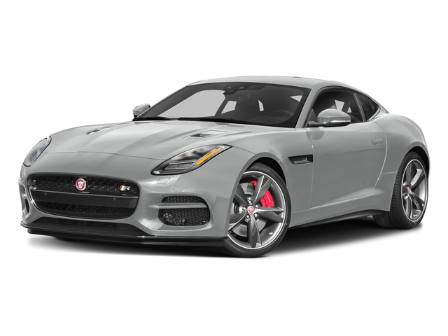 Indus Silver Metallic 2018 Jaguar F-TYPE Pictures F-TYPE Coupe Auto R-Dynamic AWD photos front view