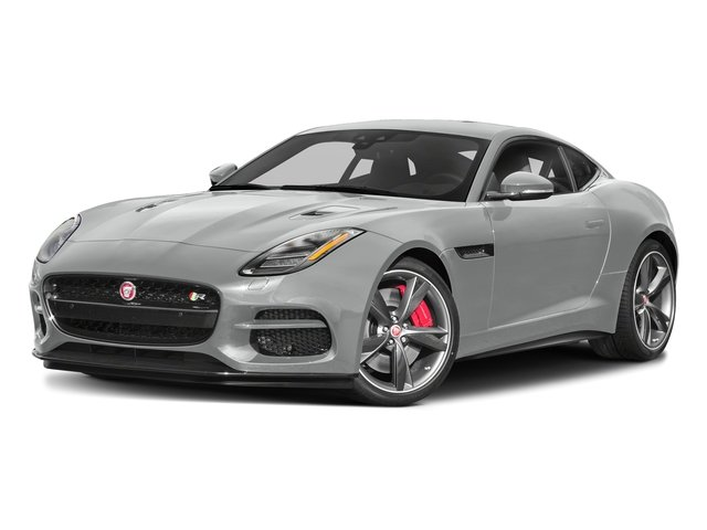 Indus Silver Metallic 2018 Jaguar F-TYPE Pictures F-TYPE Coupe Auto 340HP photos front view
