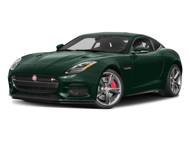 British Racing Green Metallic 2018 Jaguar F-TYPE Pictures F-TYPE Coupe Auto R-Dynamic AWD photos front view