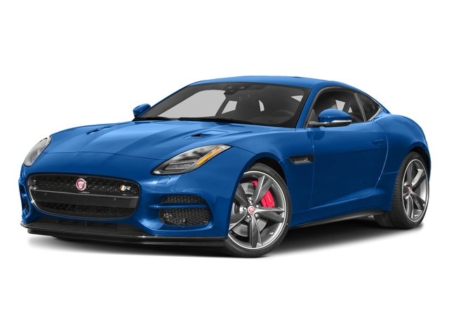 Ultra Blue Metallic 2018 Jaguar F-TYPE Pictures F-TYPE Coupe Auto R-Dynamic AWD photos front view