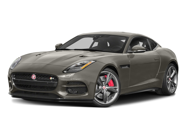 Silicon Silver 2018 Jaguar F-TYPE Pictures F-TYPE Coupe Auto R-Dynamic AWD photos front view