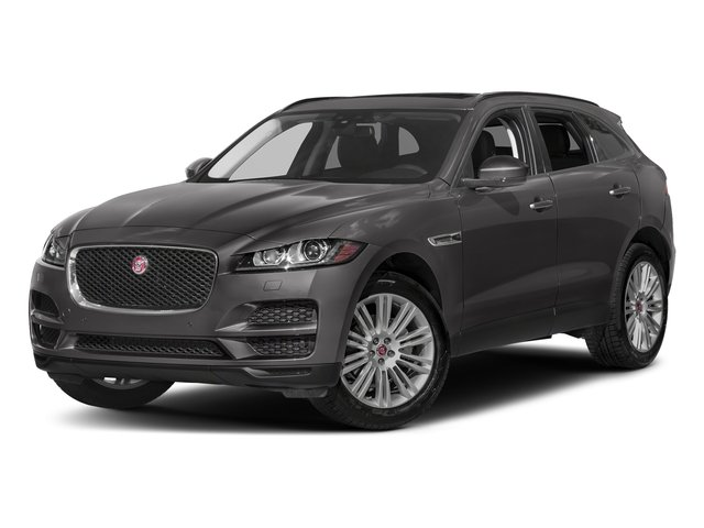 Corris Grey Metallic 2018 Jaguar F-PACE Pictures F-PACE 20d Prestige AWD photos front view