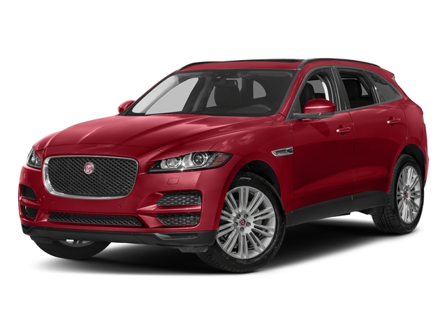 Firenze Red Metallic 2018 Jaguar F-PACE Pictures F-PACE 20d Prestige AWD photos front view