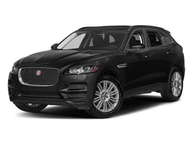 Santorini Black Metallic 2018 Jaguar F-PACE Pictures F-PACE 20d Prestige AWD photos front view
