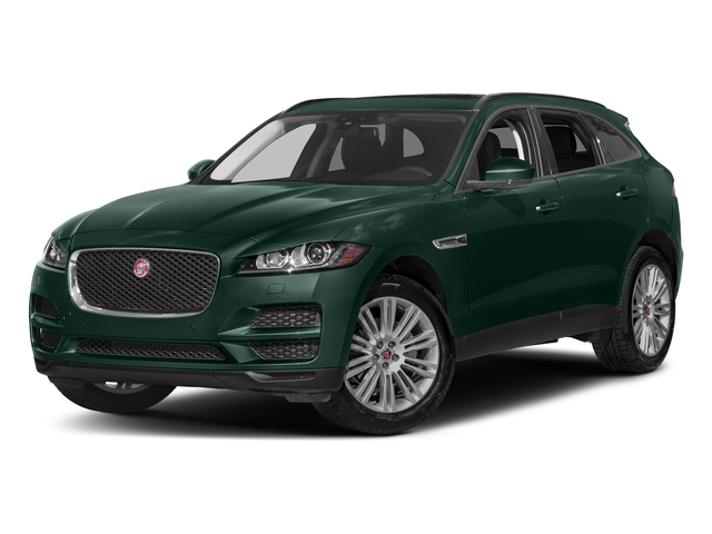 British Racing Green Metallic 2018 Jaguar F-PACE Pictures F-PACE 20d Prestige AWD photos front view