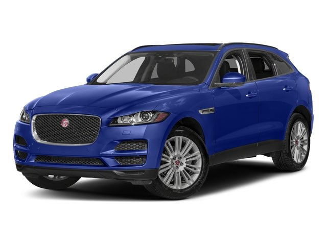Caesium Blue Metallic 2018 Jaguar F-PACE Pictures F-PACE 20d Prestige AWD photos front view