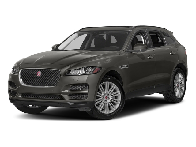Silicon Silver 2018 Jaguar F-PACE Pictures F-PACE 20d Prestige AWD photos front view