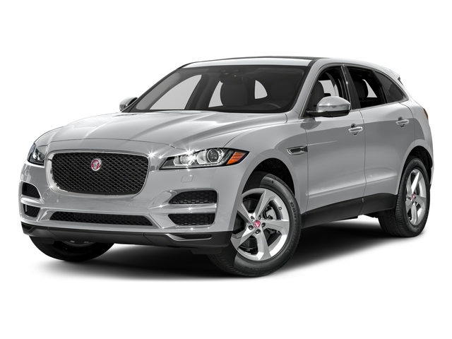 Yulong White Metallic 2018 Jaguar F-PACE Pictures F-PACE 35t Portfolio AWD photos front view