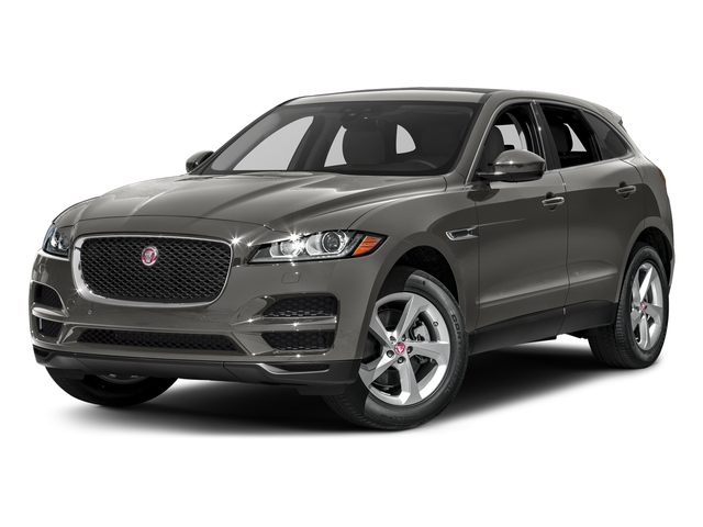 Silicon Silver 2018 Jaguar F-PACE Pictures F-PACE 35t Prestige AWD photos front view