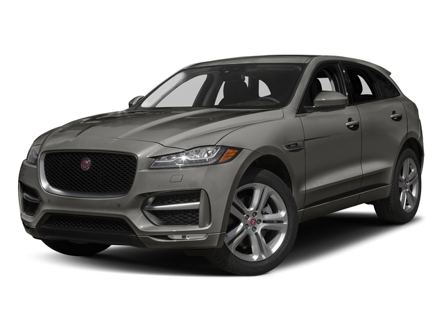Silicon Silver 2018 Jaguar F-PACE Pictures F-PACE 35t R-Sport AWD photos front view