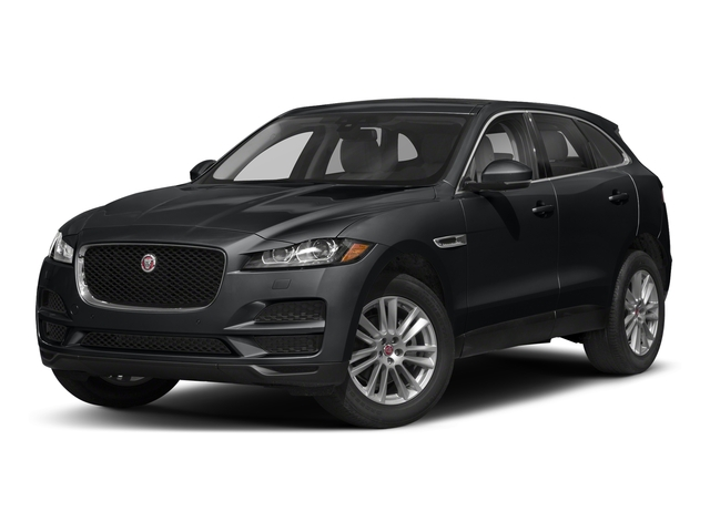 Santorini Black Metallic 2018 Jaguar F-PACE Pictures F-PACE 25t Premium AWD photos front view