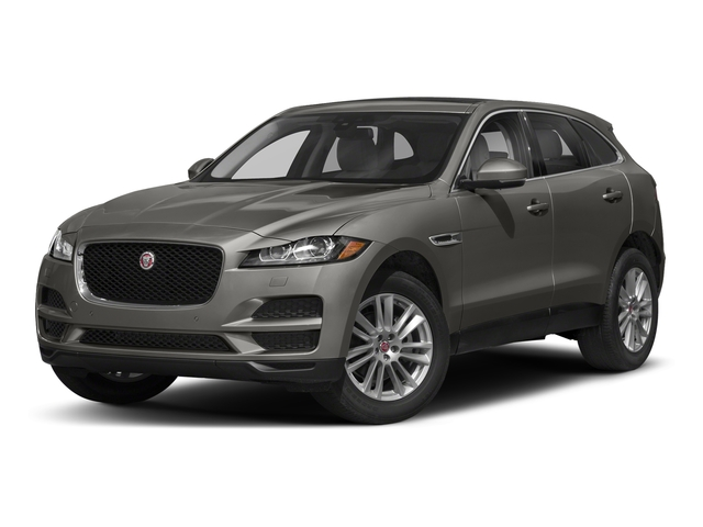 Silicon Silver 2018 Jaguar F-PACE Pictures F-PACE 25t Prestige AWD photos front view