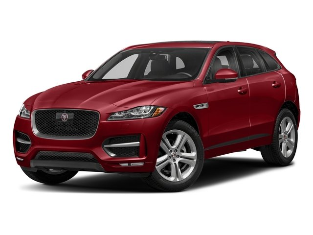 Firenze Red Metallic 2018 Jaguar F-PACE Pictures F-PACE 25t R-Sport AWD photos front view
