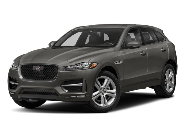 Silicon Silver 2018 Jaguar F-PACE Pictures F-PACE 25t R-Sport AWD photos front view
