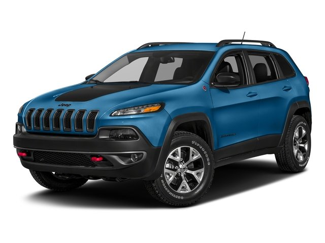 Hydro Blue Pearlcoat 2018 Jeep Cherokee Pictures Cherokee Utility 4D Trailhawk 4WD photos front view