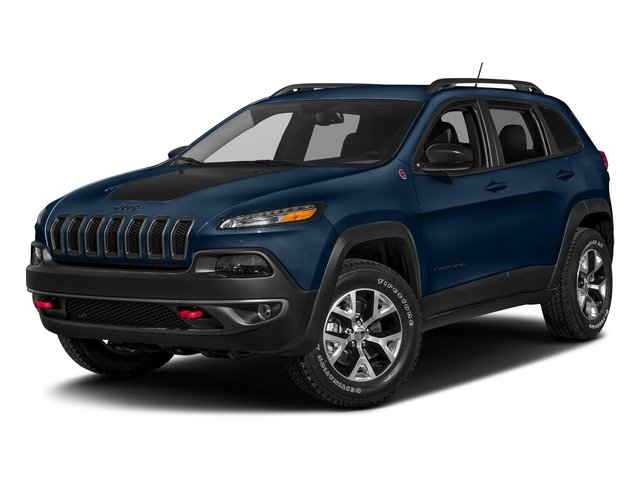 Patriot Blue Pearlcoat 2018 Jeep Cherokee Pictures Cherokee Utility 4D Trailhawk 4WD photos front view