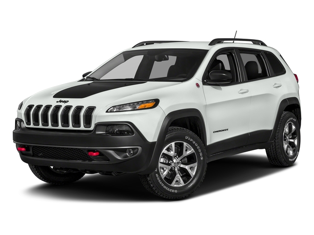 Bright White Clearcoat 2018 Jeep Cherokee Pictures Cherokee Utility 4D Trailhawk 4WD photos front view