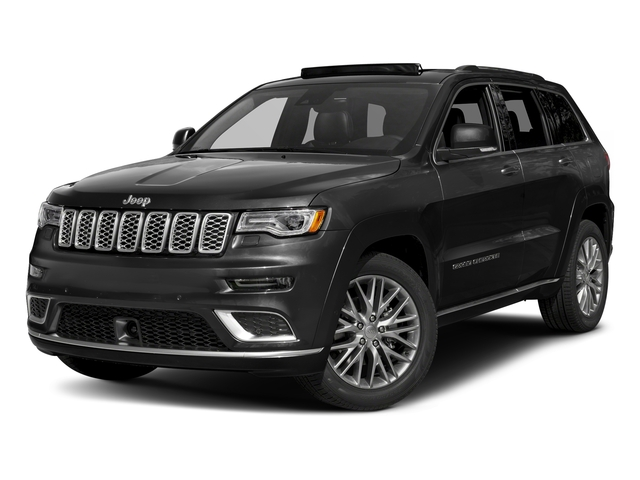 Diamond Black Crystal Pearlcoat 2018 Jeep Grand Cherokee Pictures Grand Cherokee Summit 4x2 photos front view