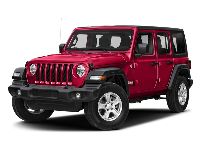 Firecracker Red Clearcoat 2018 Jeep Wrangler Unlimited Pictures Wrangler Unlimited Sport 4x4 photos front view