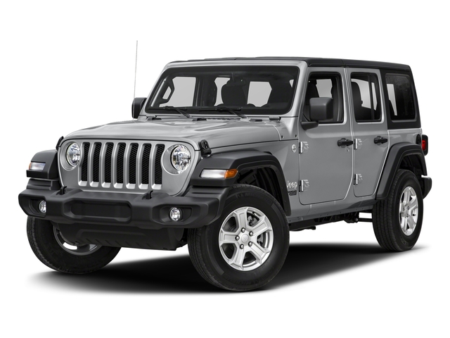 Billet Silver Metallic Clearcoat 2018 Jeep Wrangler Unlimited Pictures Wrangler Unlimited Sport 4x4 photos front view