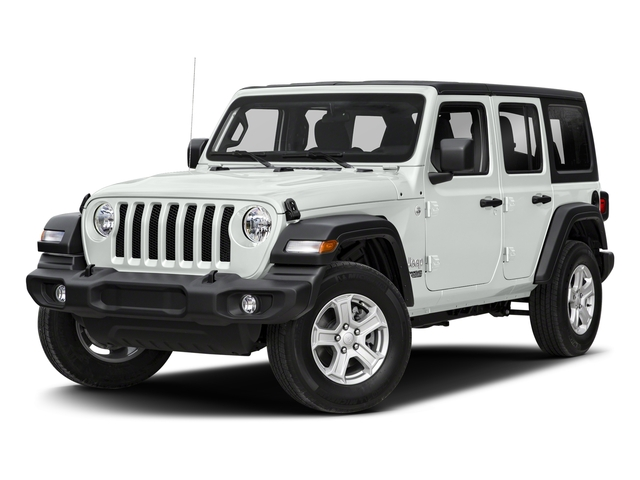 Bright White Clearcoat 2018 Jeep Wrangler Unlimited Pictures Wrangler Unlimited Sport 4x4 photos front view