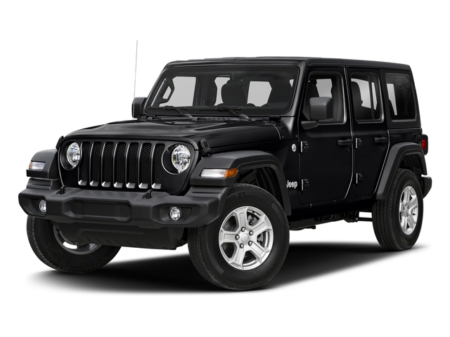 Black Clearcoat 2018 Jeep Wrangler Unlimited Pictures Wrangler Unlimited Sport 4x4 photos front view