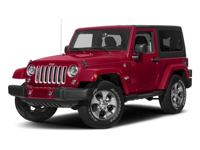Firecracker Red Clearcoat 2018 Jeep Wrangler JK Pictures Wrangler JK Utility 2D Sahara 4WD photos front view