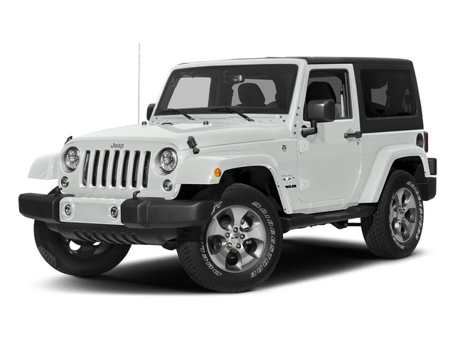 Bright White Clearcoat 2018 Jeep Wrangler JK Pictures Wrangler JK Utility 2D Sahara 4WD photos front view
