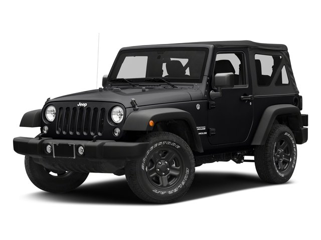 Black Clearcoat 2018 Jeep Wrangler JK Pictures Wrangler JK Utility 2D Sport 4WD photos front view