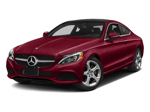designo Cardinal Red Metallic 2018 Mercedes-Benz C-Class Pictures C-Class C 300 4MATIC Coupe photos front view
