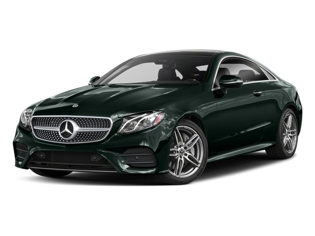 Emerald Green Metallic 2018 Mercedes-Benz E-Class Pictures E-Class E 400 4MATIC Coupe photos front view