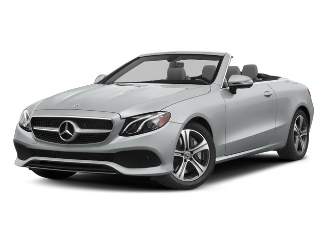 Iridium Silver Metallic 2018 Mercedes-Benz E-Class Pictures E-Class E 400 4MATIC Cabriolet photos front view