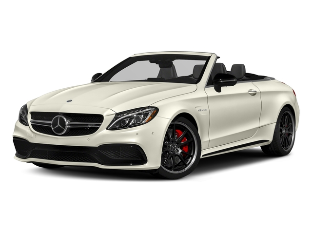 Polar White 2018 Mercedes-Benz C-Class Pictures C-Class Convertible 2D C63 AMG S V6 Turbo photos front view