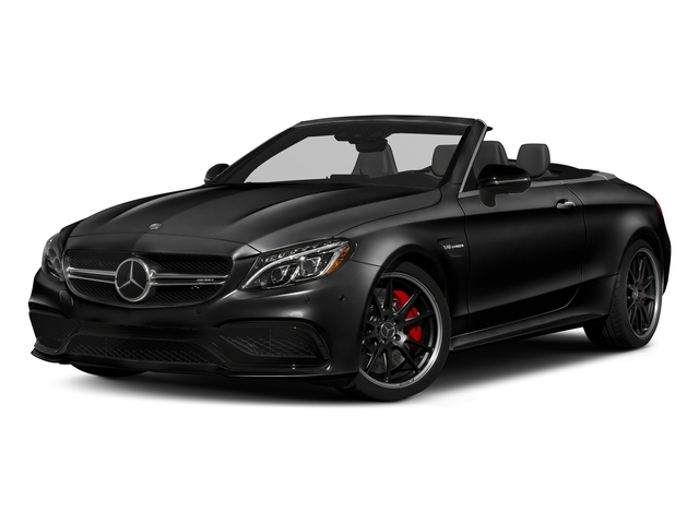 Obsidian Black Metallic 2018 Mercedes-Benz C-Class Pictures C-Class Convertible 2D C63 AMG S V6 Turbo photos front view