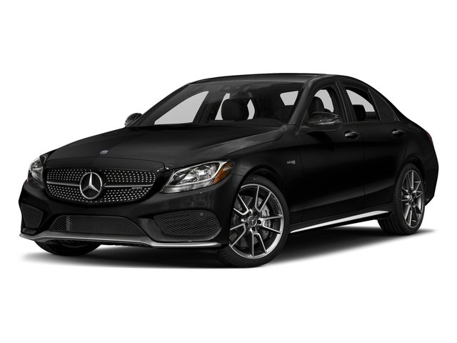 Obsidian Black Metallic 2018 Mercedes-Benz C-Class Pictures C-Class AMG C 43 4MATIC Sedan photos front view