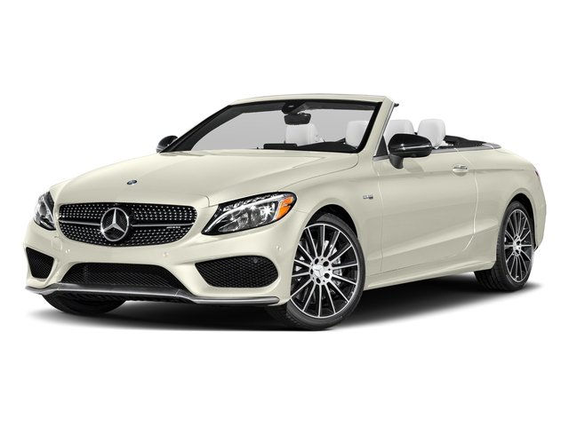 Polar White 2018 Mercedes-Benz C-Class Pictures C-Class Convertible 2D C43 AMG AWD V6 Turbo photos front view