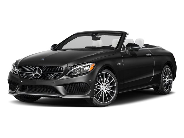 Obsidian Black Metallic 2018 Mercedes-Benz C-Class Pictures C-Class Convertible 2D C43 AMG AWD V6 Turbo photos front view