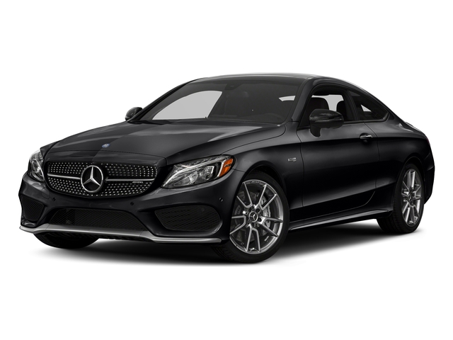 Black 2018 Mercedes-Benz C-Class Pictures C-Class Coupe 2D C43 AMG AWD V6 Turbo photos front view