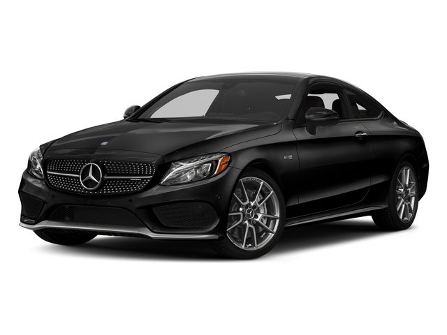 Obsidian Black Metallic 2018 Mercedes-Benz C-Class Pictures C-Class Coupe 2D C43 AMG AWD V6 Turbo photos front view