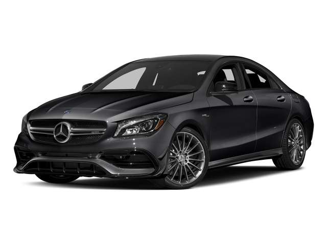 Cosmos Black Metallic 2018 Mercedes-Benz CLA Pictures CLA AMG CLA 45 4MATIC Coupe photos front view