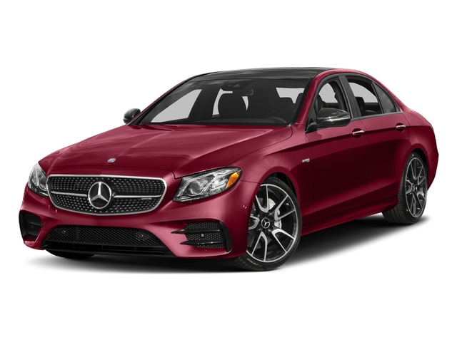 designo Cardinal Red Metallic 2018 Mercedes-Benz E-Class Pictures E-Class Sedan 4D E43 AMG AWD V6 Turbo photos front view