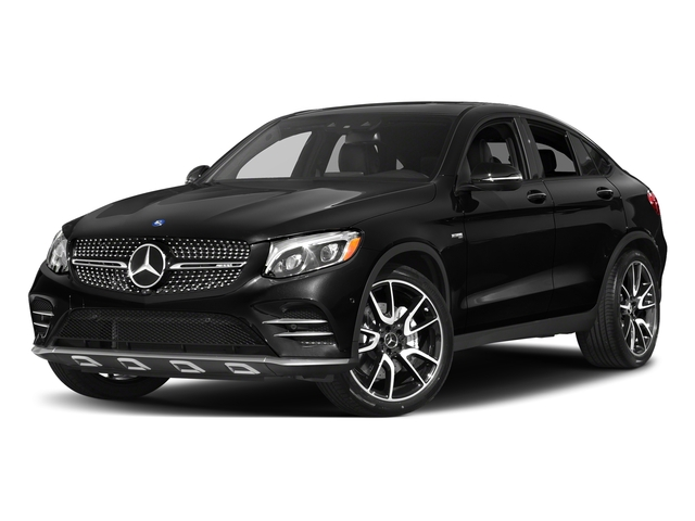 Obsidian Black Metallic 2018 Mercedes-Benz GLC Pictures GLC AMG GLC 43 4MATIC Coupe photos front view