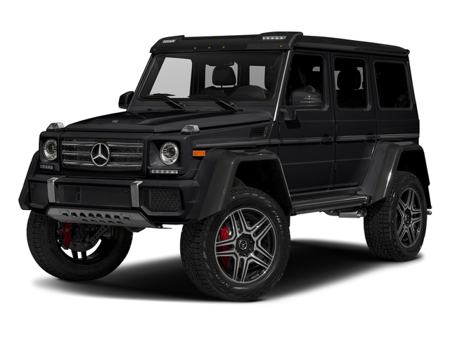 Black 2018 Mercedes-Benz G-Class Pictures G-Class G 550 4x4 Squared SUV photos front view
